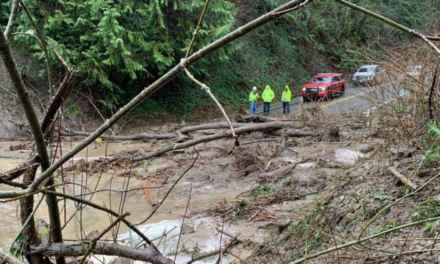 Landslide closes Woodmont Drive S. at Marine View Drive S.  Friday