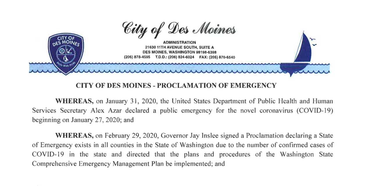 City of Des Moines issues 'Proclamation of Emergency' due to coronavirus outbreak
