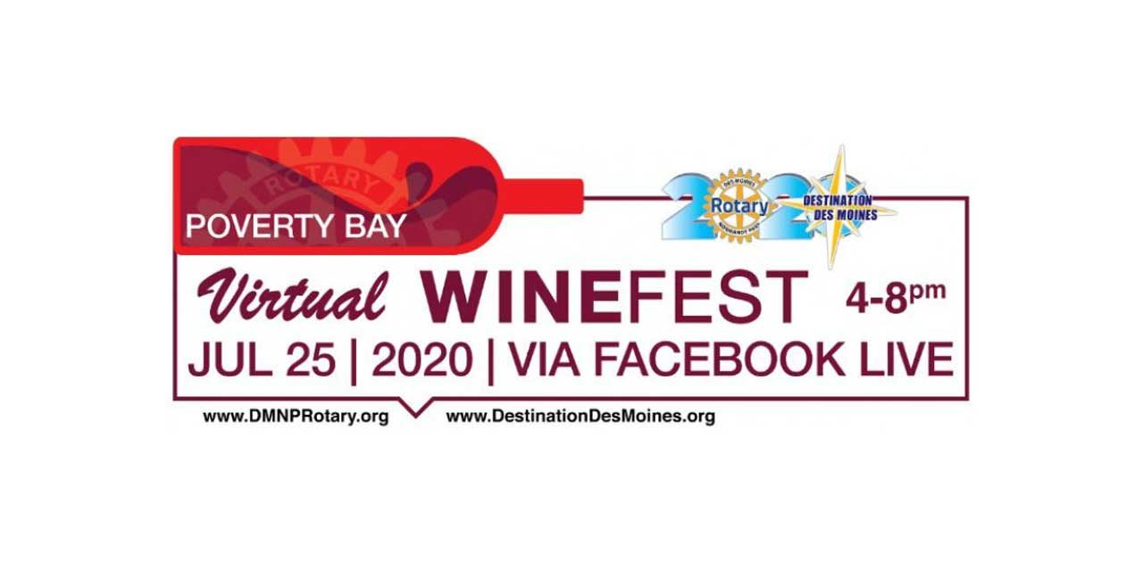 REMINDER: The Poverty Bay Virtual Wine Festival is this Saturday, July 25